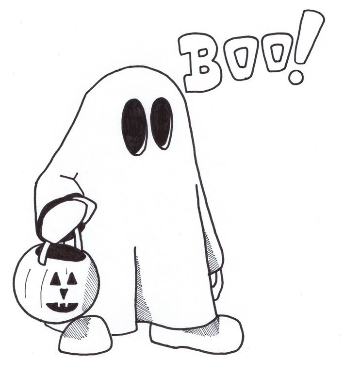 709x808 Free Printable Ghost Coloring Pages For Kids