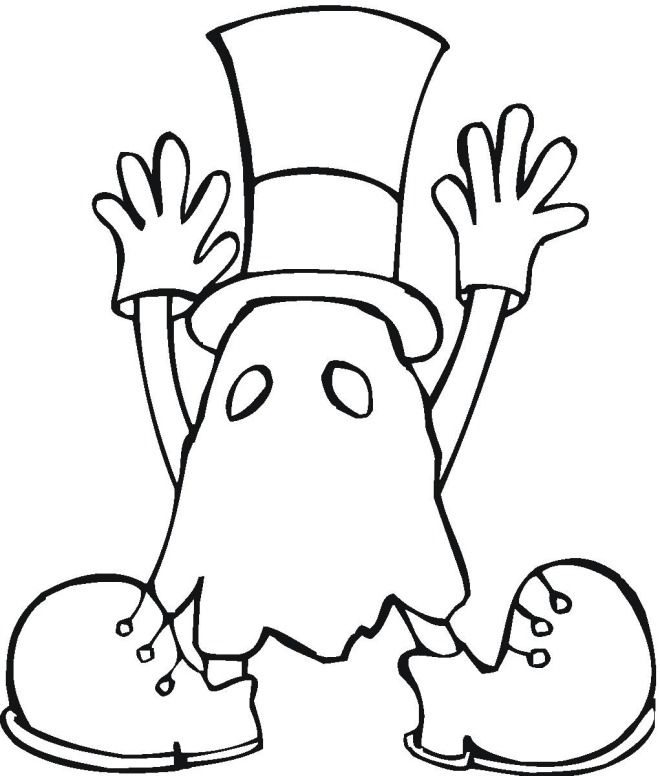 660x776 Halloween Coloring Pages For Kids Ghosts Costume Hallowen