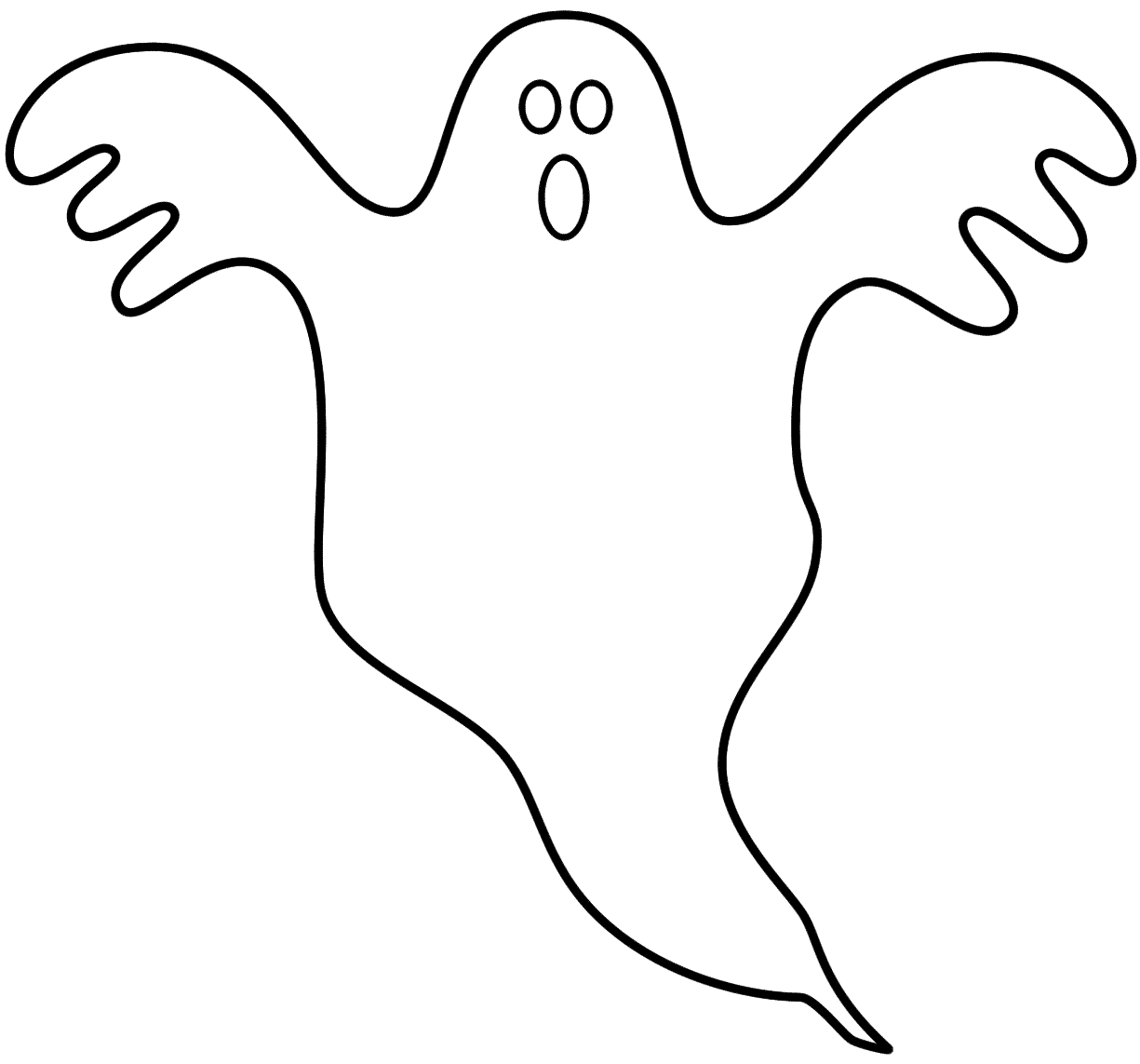 1225x1143 Halloween Ghost Coloring Pages