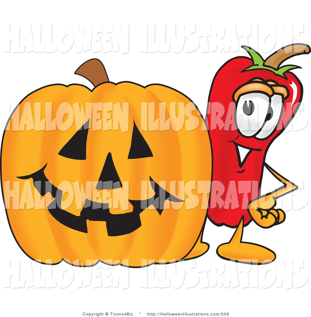 1024x1044 Halloween Clip Art Of A Hot Chili Pepper Mascot Cartoon Character
