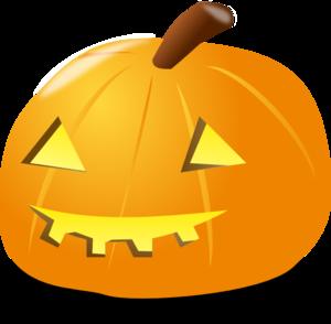 300x294 Halloween Pumpkin Lantern Clip Art