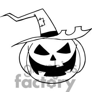 300x300 Halloween Clip Art Black And White Pumpkin Clipart Panda