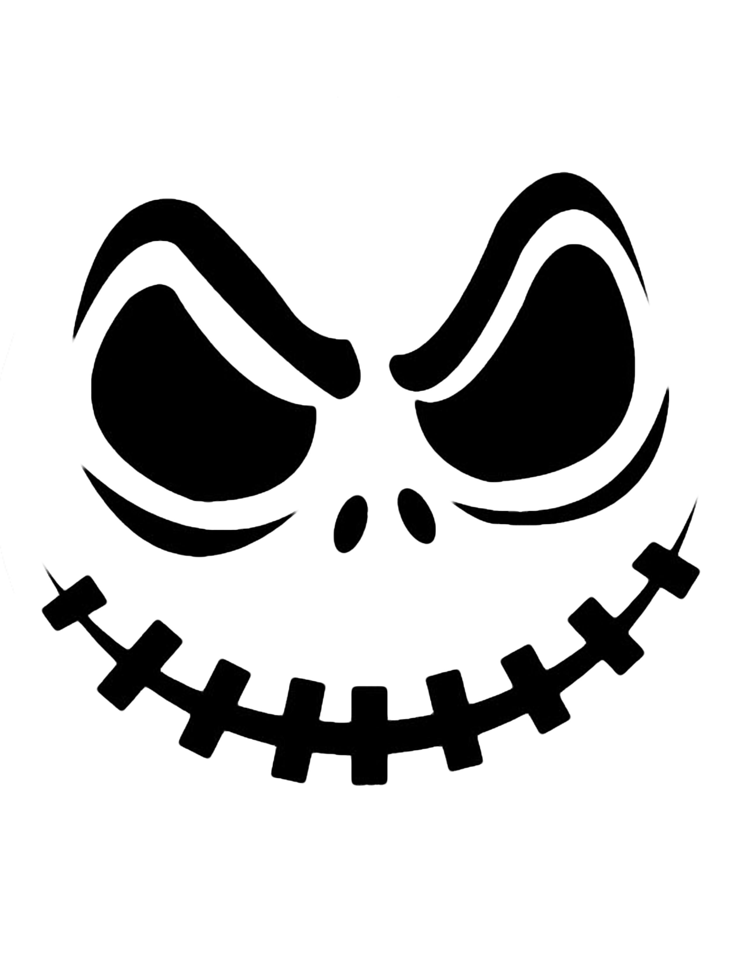 2550x3300 Halloween Pumpkin Faces Clip Art