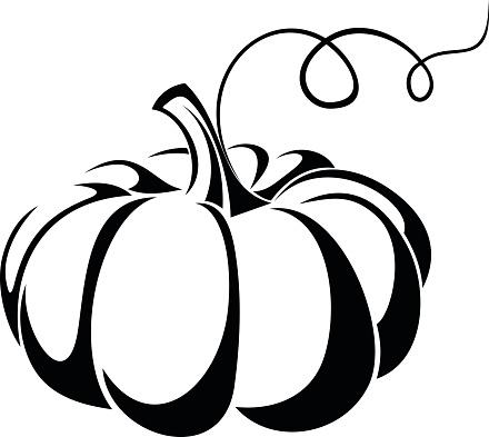 440x393 Pumpkin Black And White Halloween Pumpkin Clip Art