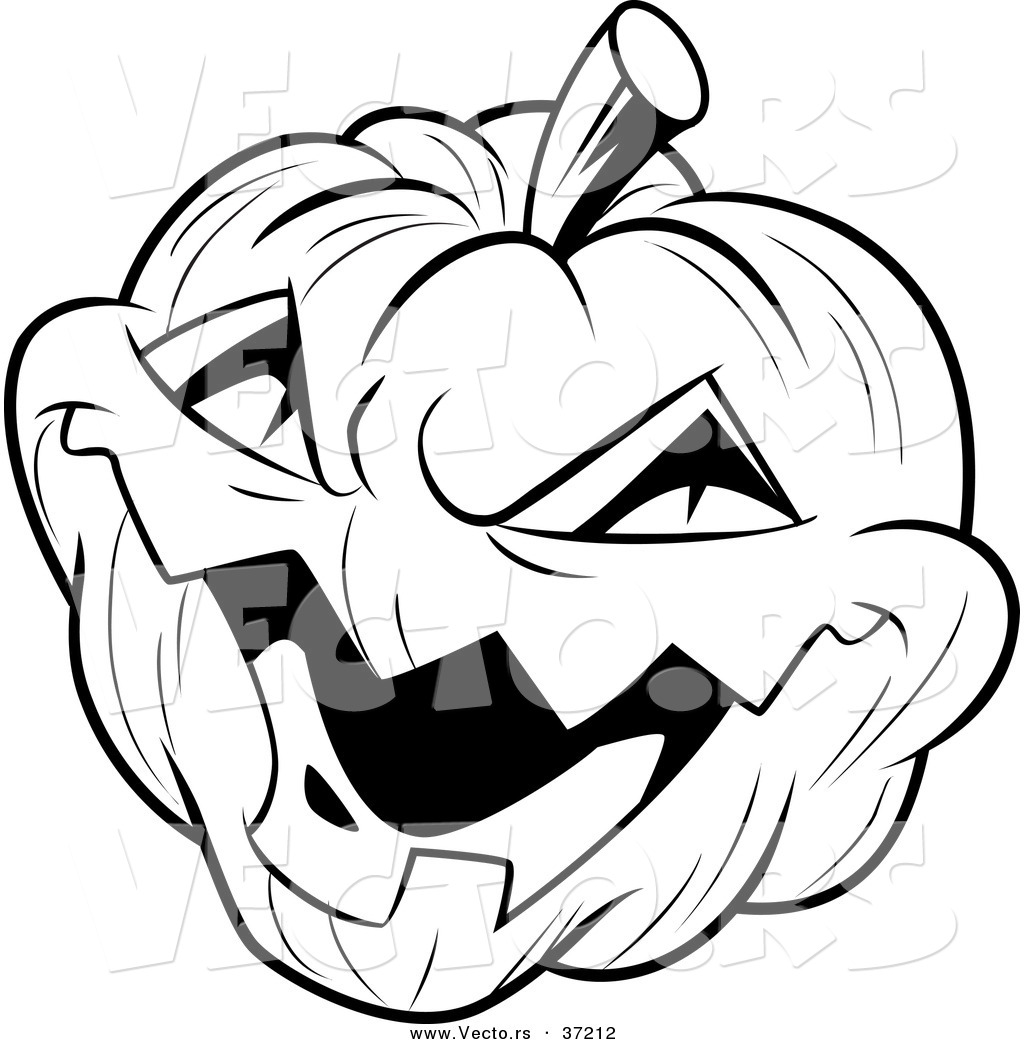 1024x1044 Vector Of A Laughing Evil Jack O Lantern