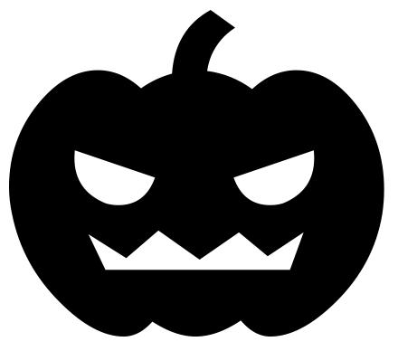 440x388 Pumpkin Clipart Black