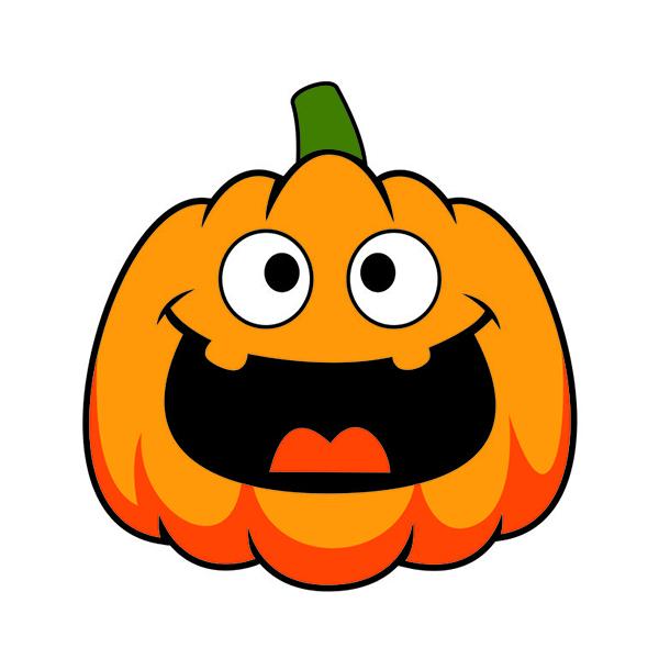 600x600 Funny Halloween Pumpkin Cuttable Design