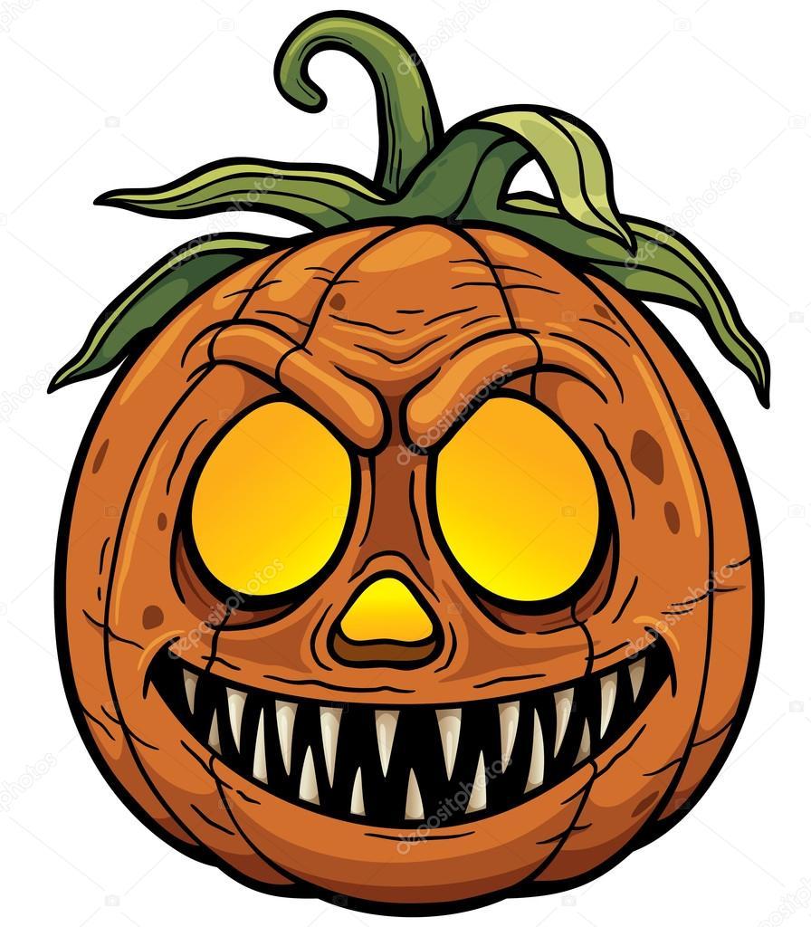 896x1024 Halloween Pumpkin Cartoon Stock Vector Sararoom