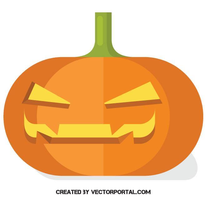 660x660 Halloween Pumpkin Vector Clip Art