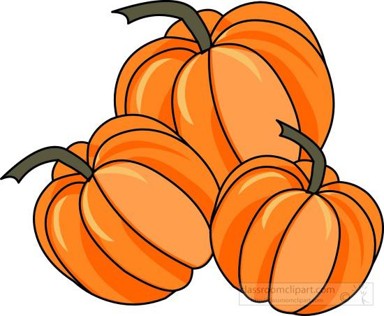 550x452 Clipart Pumpkins