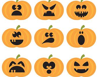 340x270 Clip Art Pumpkins