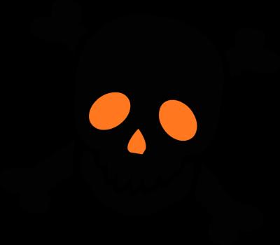 400x350 Graphics For Skulls Free Halloween Graphics
