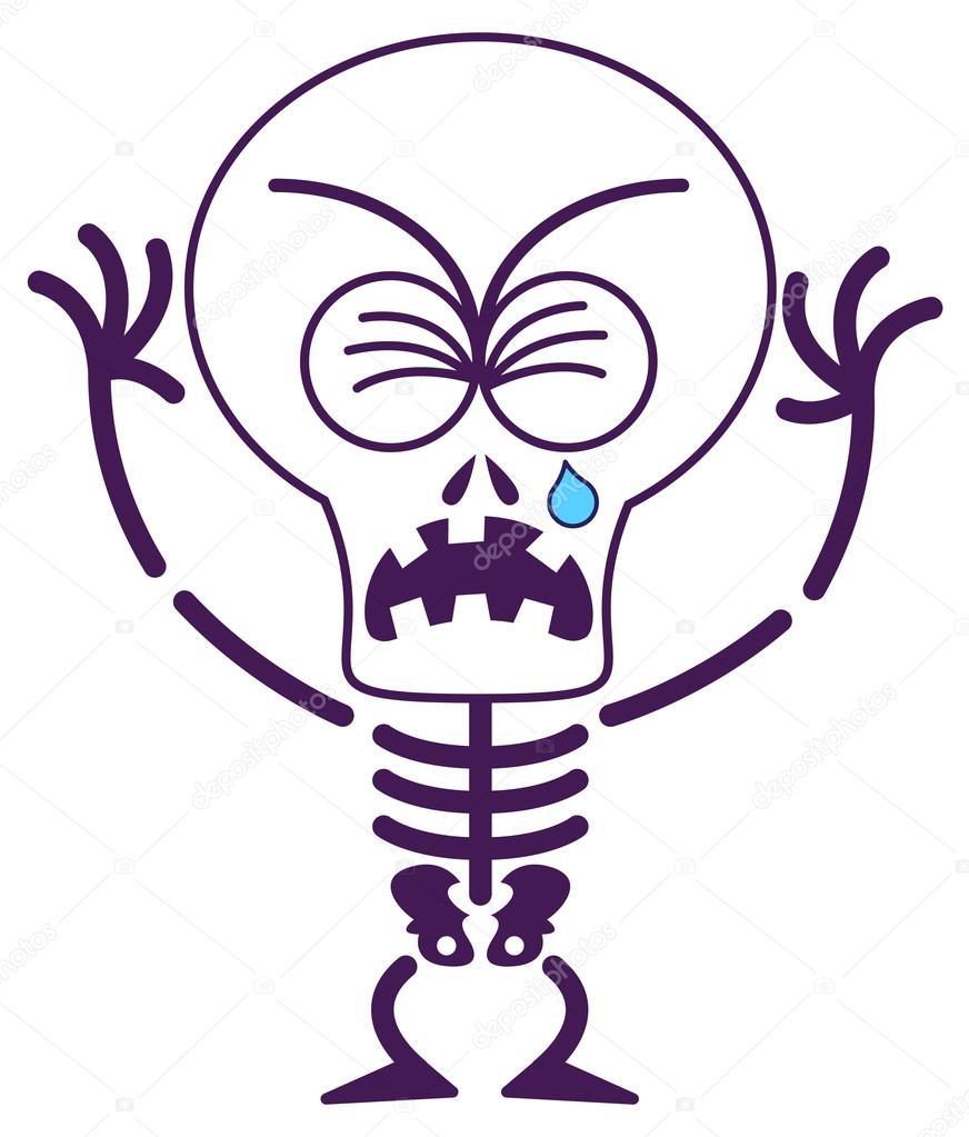 872x1023 Skeleton Clipart Sad