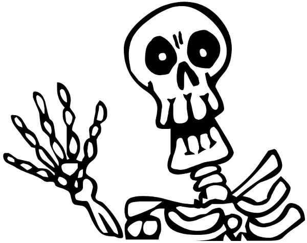 600x475 Skeleton Howdy Clipart Panda