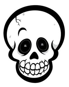 Halloween Skeleton Head Clipart