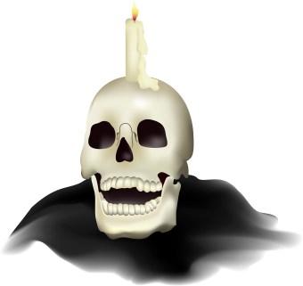 340x321 Halloween Skull Clip Art