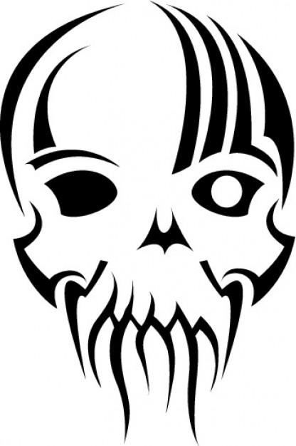 416x626 Skull Clip Art Illustration Vector Vector Free Download