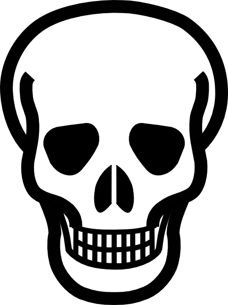 450x600 Totetude Skull Outline Clip Art
