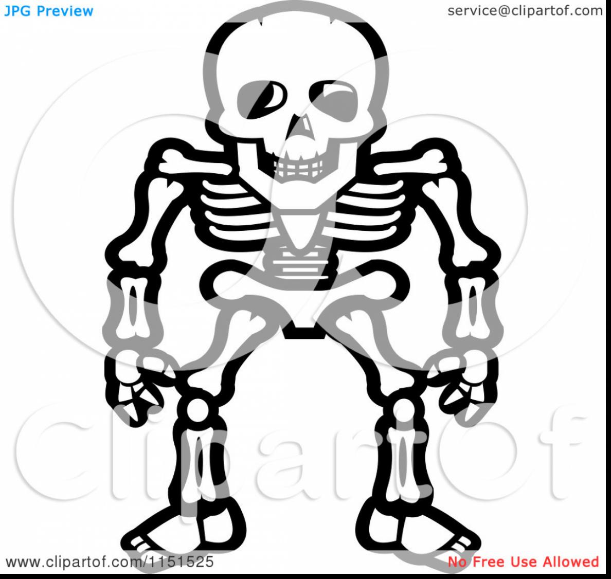 1188x1126 Brilliant Skeleton Clip Art With Skeleton Coloring Pages