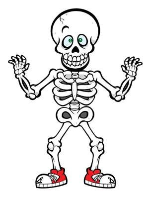 300x400 28 Best Cute Skeleton Crafts For Kids. Images