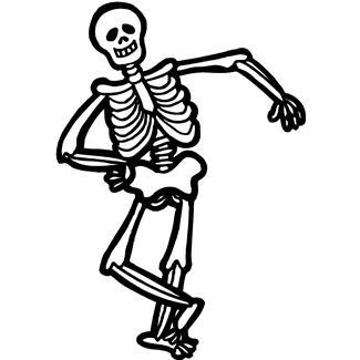 325x325 Clipart Halloween Skeleton
