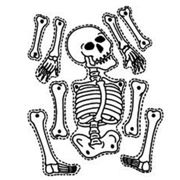 600x600 16 images of halloween skeleton cut out template