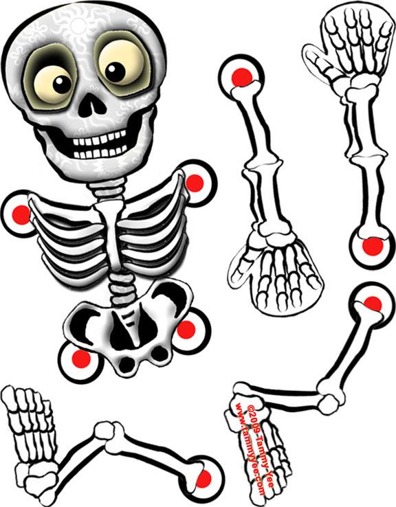 576x738 Origami N' Stuff 4 Kids Halloween Skeleton