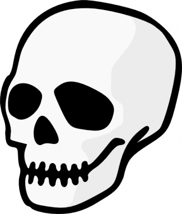 361x425 Skeleton Clipart Halloween Skeleton Head