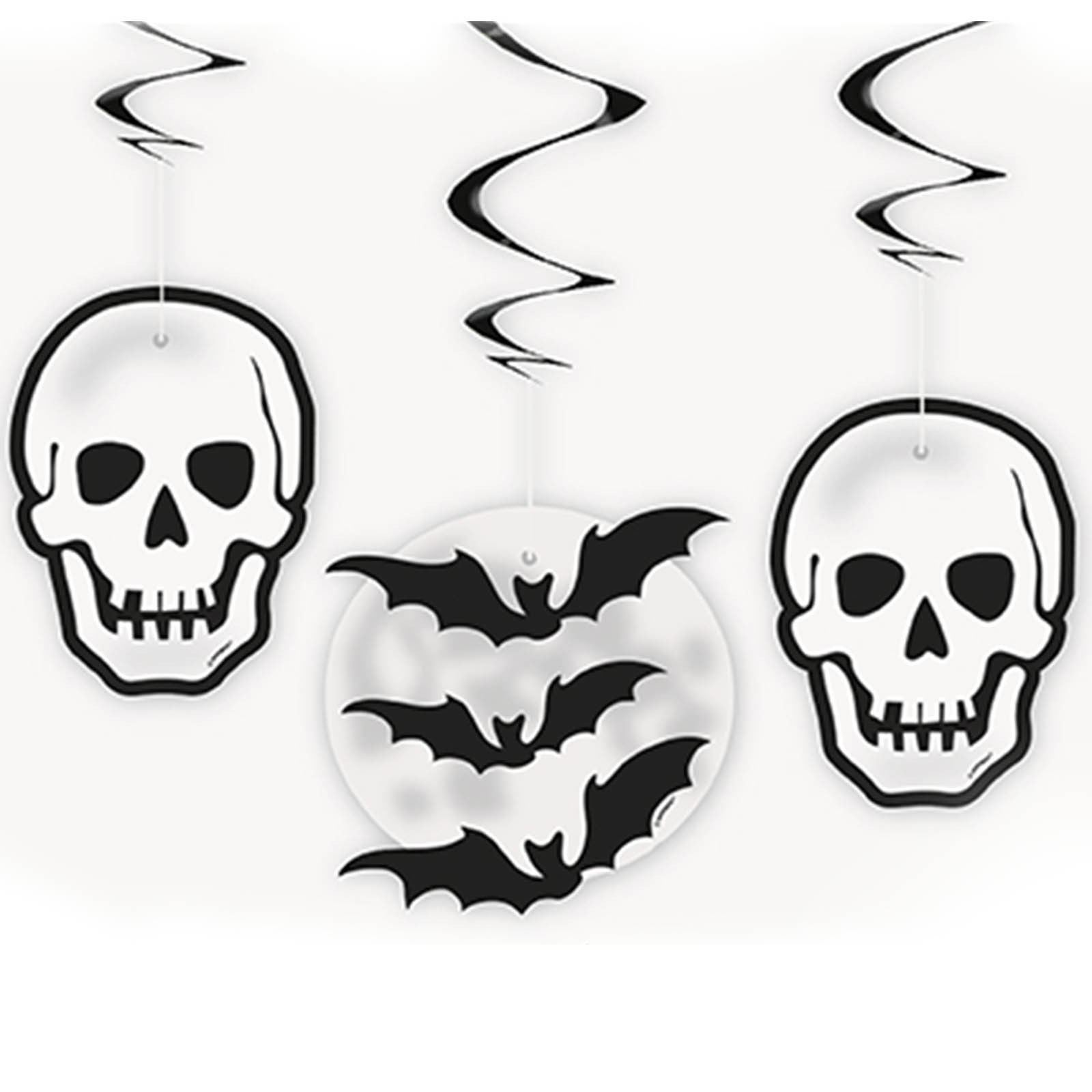 1600x1600 Halloween Hanging Foil Swirl Party Decorations Skulls Pumpkins
