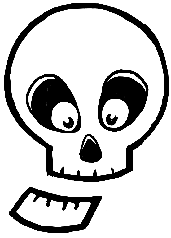 552x764 How To Draw Silly Cartoon Skulls Halloween Easy Tutorial