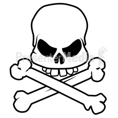 400x400 Scary Skull Bones