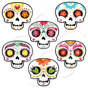300x300 Skull Halloween Clip Art Halloween Amp Holidays Wizard