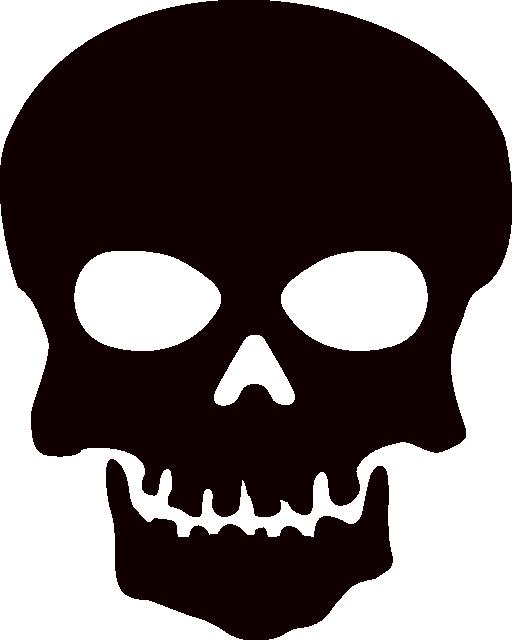 512x640 Skull Halloween Clipart