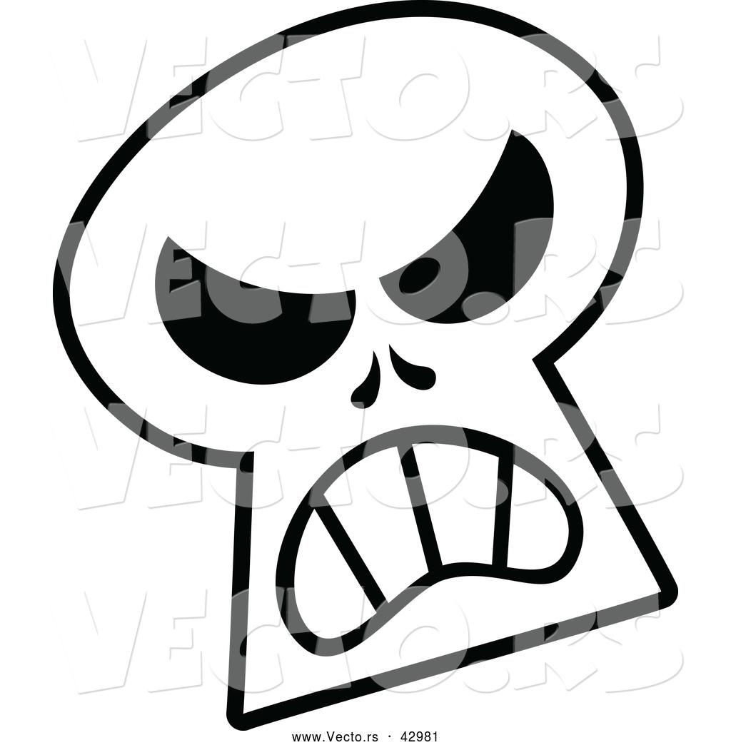 1024x1044 Vector Of A Mad Cartoon Halloween Skull