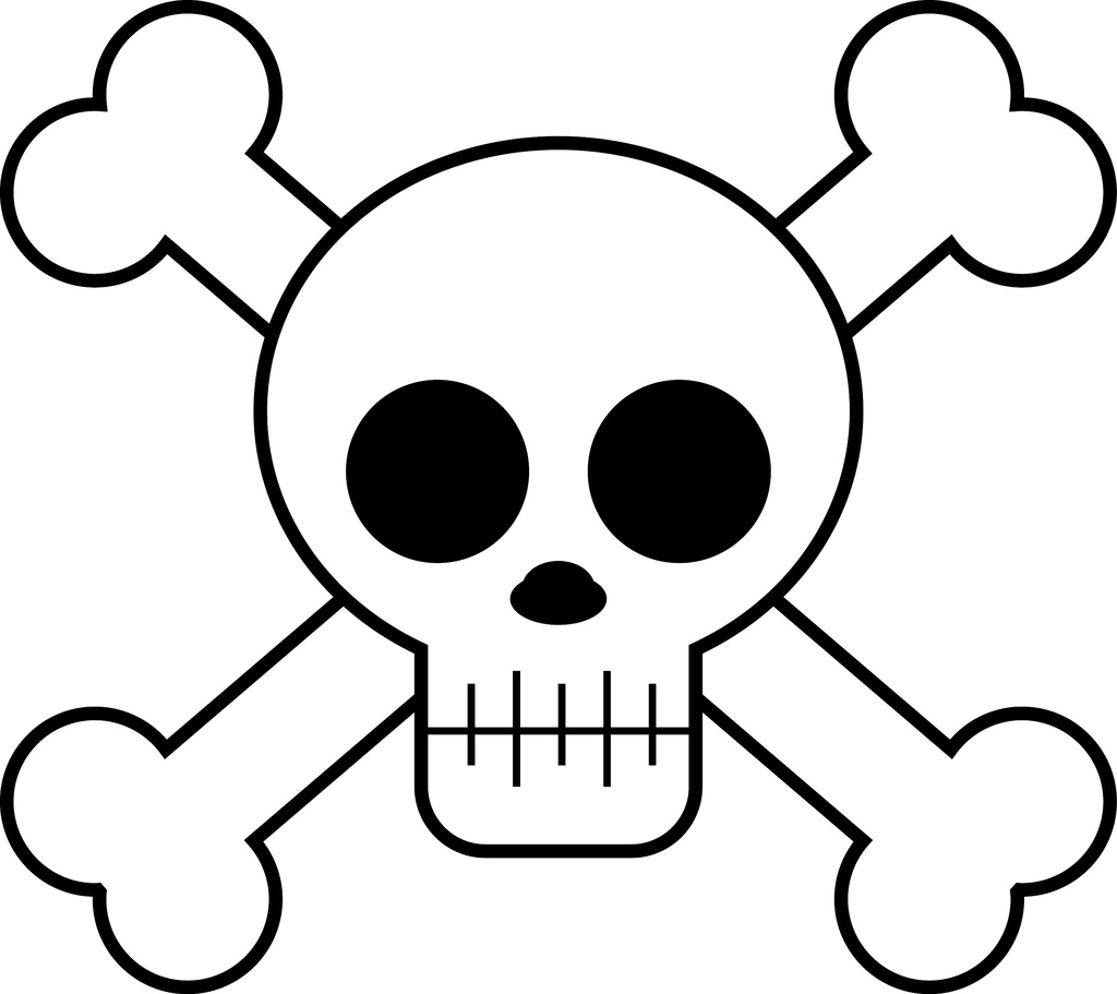 1024x911 Images Cute Skull Clipart Black And White 32