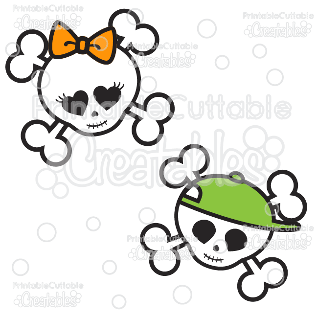 650x650 Cute Skulls Halloween Svg Cutting Files Amp Clipart
