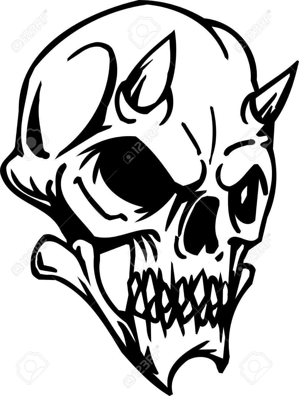 984x1300 Drawn Skull Halloween