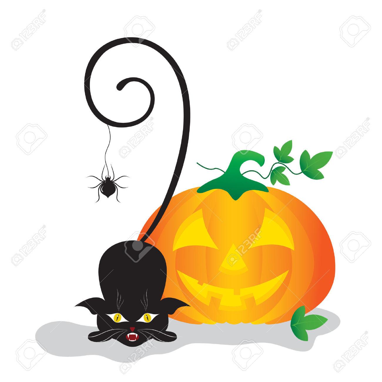 1300x1300 Pumpkin Spider Clipart