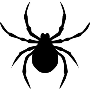 300x300 Spider Black And White Free Spider Clip Art Pictures