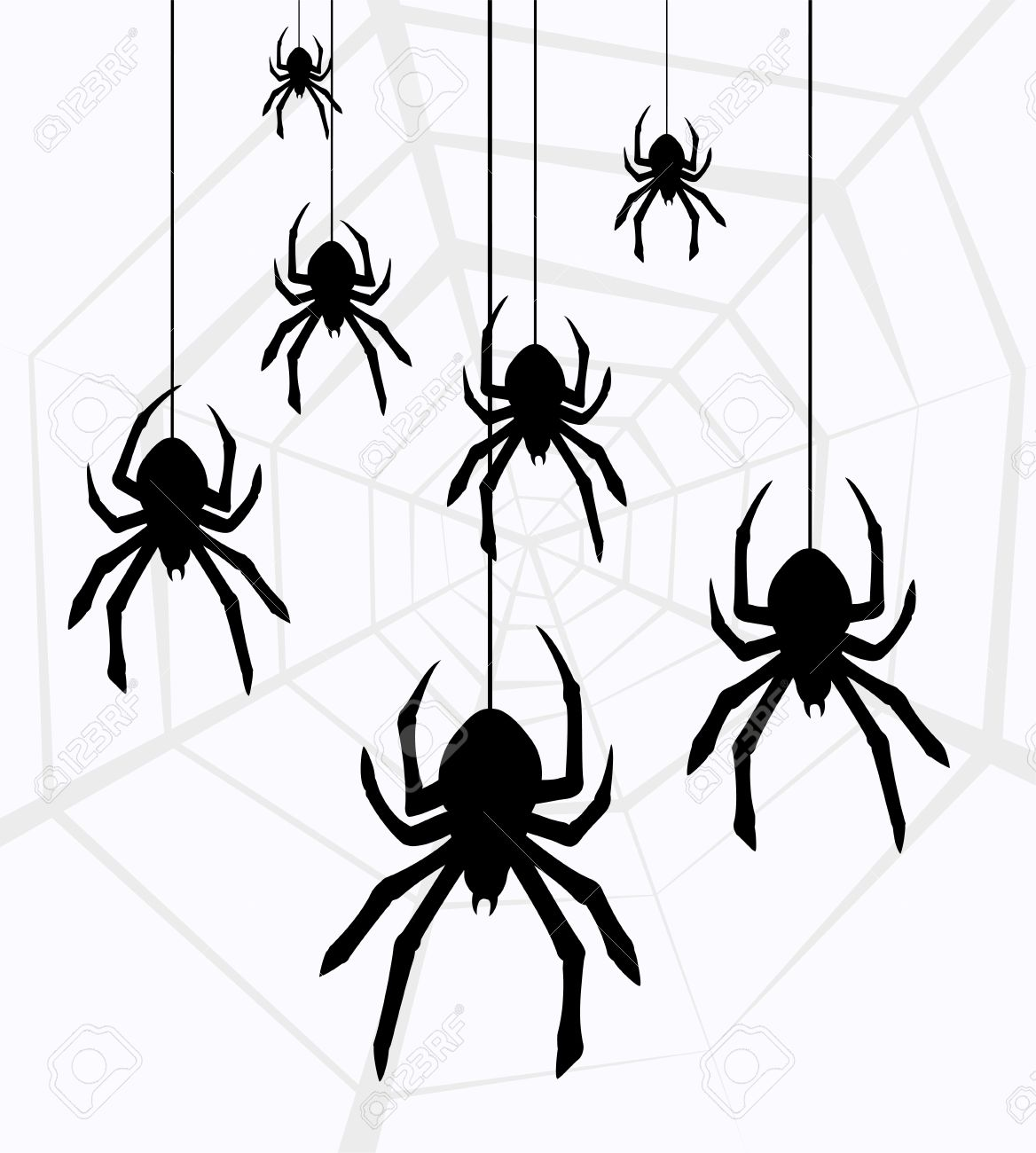 1168x1300 Spider Black And White Halloween Hanging Spider Clipart Free