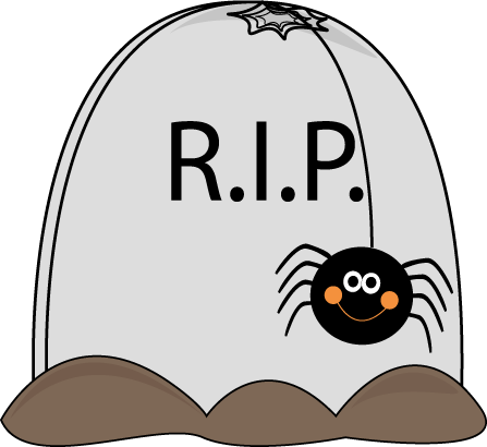 447x410 Tombstone Clipart Cute Halloween Spider