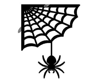 340x270 Halloween Corner Spider Web Clipart