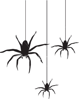 306x380 Hanging Spider Clipart