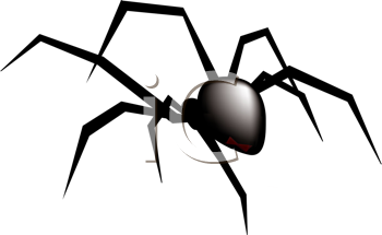 350x215 Royalty Free Spider Clip Art, Halloween Clipart