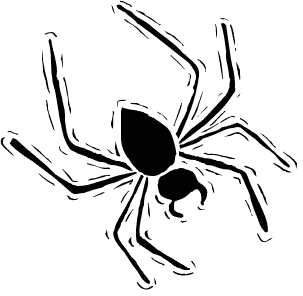 303x296 Spider Black And White Free Halloween Spider Clipart Clip Art