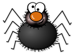 263x195 Spider Clipart Silly