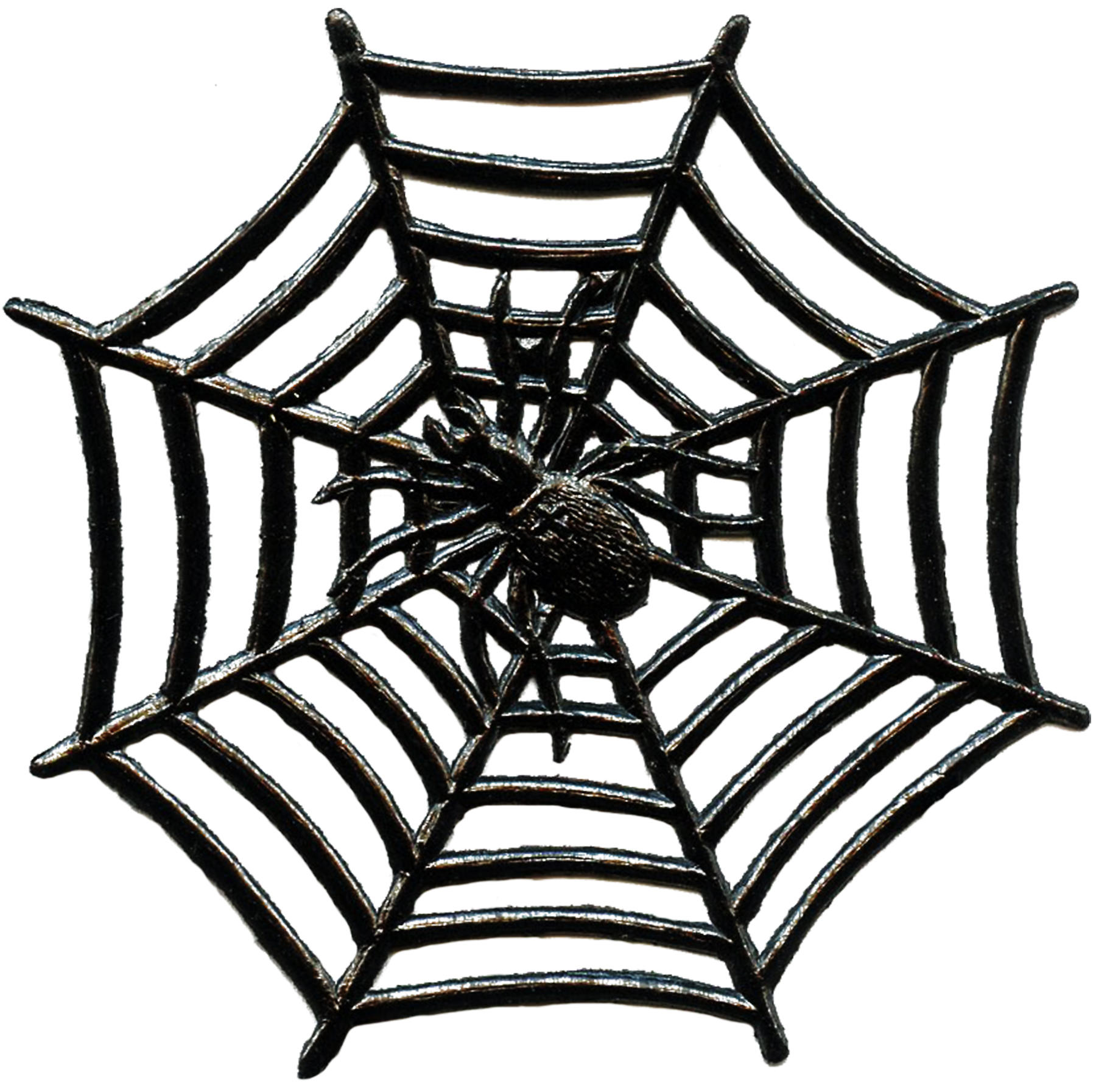 1800x1793 Vintage Halloween Spider Image With Web!