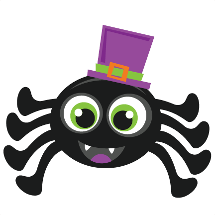 432x432 Halloween Spider Scrapbook Cut File Cute Clipart Files