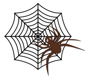 300x268 Halloween Spider Web Royalty Free Stock Image