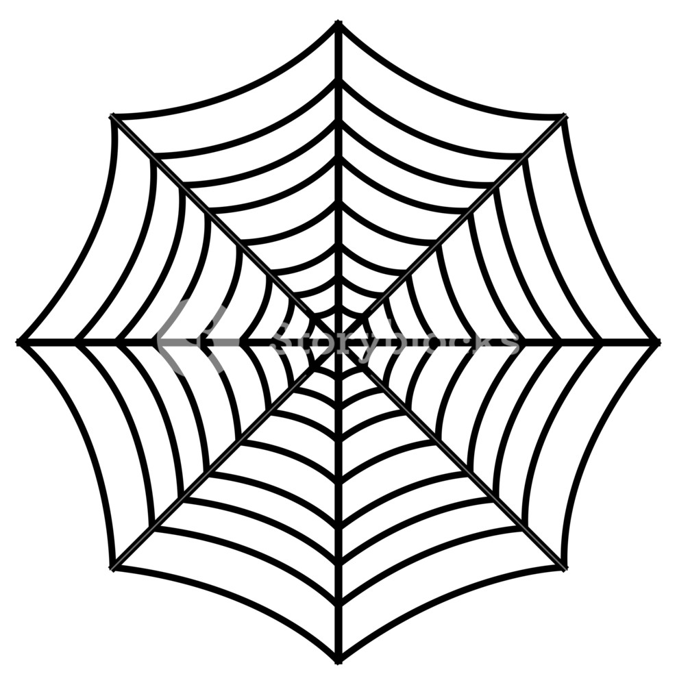 988x1000 Retro Spider Web Design Art Royalty Free Stock Image